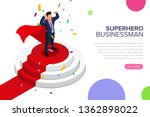 superhero businessman standing... | Shutterstock .eps vector #1362898022