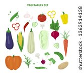 set of vegetables. fresh... | Shutterstock .eps vector #1362914138