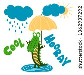 crocodile print design with...   Shutterstock .eps vector #1362937292