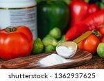 collagen protein supplements...   Shutterstock . vector #1362937625