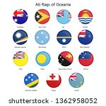 flag of oceania.circular design.... | Shutterstock .eps vector #1362958052