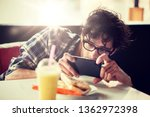 leisure  food  eating and... | Shutterstock . vector #1362972398