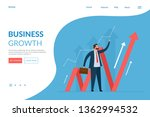 vector web page design template.... | Shutterstock .eps vector #1362994532