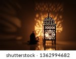 silhouette of glowing moroccan... | Shutterstock . vector #1362994682