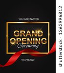 grand opening card with ribbon... | Shutterstock .eps vector #1362996812