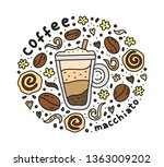 poster with cute doodle... | Shutterstock .eps vector #1363009202