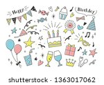hand drawn party goods   Shutterstock .eps vector #1363017062