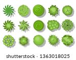 trees top view. for your... | Shutterstock .eps vector #1363018025
