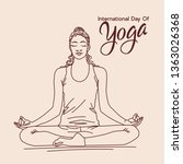 international day of yoga... | Shutterstock .eps vector #1363026368