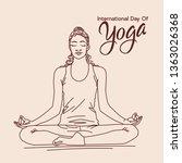 international day of yoga...   Shutterstock .eps vector #1363026368