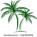 Illustration Of Isolated Palm...