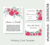 wedding invite  invitation save ... | Shutterstock .eps vector #1363034258