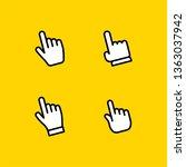 hand pointer click  clicking... | Shutterstock .eps vector #1363037942