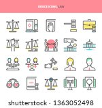 law and justice  deuce icons.... | Shutterstock .eps vector #1363052498