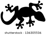 Illustration Of A Black Lizard...