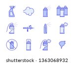 vector spray can types icon set ... | Shutterstock .eps vector #1363068932