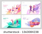 landing page template with... | Shutterstock .eps vector #1363084238