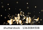 abstract black and gold on...   Shutterstock .eps vector #1363084508