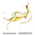 olive or engine oil splash ... | Shutterstock . vector #1363085255