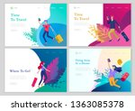 landing page template with... | Shutterstock .eps vector #1363085378