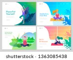 web page design template with... | Shutterstock .eps vector #1363085438