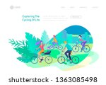 landing page template with... | Shutterstock .eps vector #1363085498