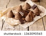 homemade tasty chocolate... | Shutterstock . vector #1363090565