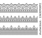 set of seamless border ornament ...   Shutterstock .eps vector #1363090892