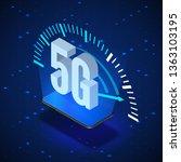 5g wireless network systems.... | Shutterstock .eps vector #1363103195