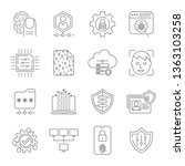 personal data protection icons  ...