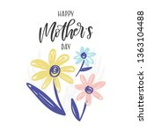 vector hand written greeting... | Shutterstock .eps vector #1363104488