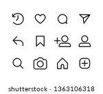 social media interface set... | Shutterstock .eps vector #1363106318