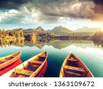 calm lake in national park high ...   Shutterstock . vector #1363109672