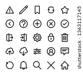 interface icons set  linear...   Shutterstock .eps vector #1363117145
