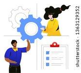 efficient planning   flat...   Shutterstock .eps vector #1363129352