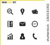 trade icons set with check box  ...