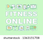 fitness online word concepts... | Shutterstock .eps vector #1363151708