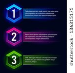 neon number options banners.... | Shutterstock .eps vector #136315175