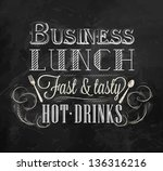 business lunch poster in...   Shutterstock .eps vector #136316216