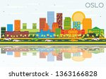 oslo norway skyline with color... | Shutterstock .eps vector #1363166828