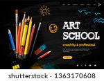 web page design template for... | Shutterstock .eps vector #1363170608