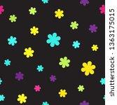 flower pattern. seamless vector | Shutterstock .eps vector #1363175015