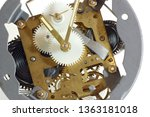 Small photo of Inner workings of an old windup clock
