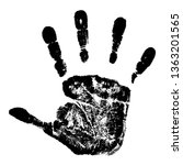 the black print of a child's... | Shutterstock .eps vector #1363201565