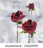 Painted Floral Background In...