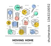 moving company banner design.... | Shutterstock .eps vector #1363210052
