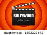 bollywood indian cinema. movie... | Shutterstock .eps vector #1363221692