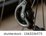 bike chain gear rear derailleur ... | Shutterstock . vector #1363236575