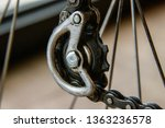 bike chain gear rear derailleur ... | Shutterstock . vector #1363236578