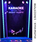 nightclub flyer design template ... | Shutterstock .eps vector #1363237058